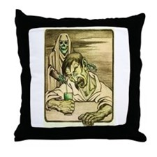 Absinthe Grim Reaper Throw Pillow