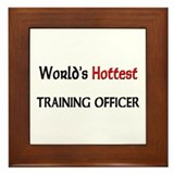 World's Hottest Training Officer Framed Tile