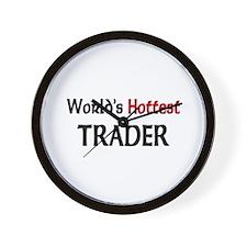 World's Hottest Trader Wall Clock