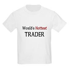 World's Hottest Trader Kids Light T-Shirt