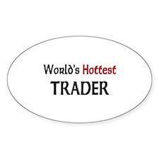 World's Hottest Trader Oval Sticker