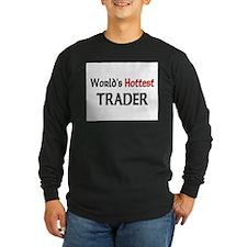 World's Hottest Trader Long Sleeve Dark T-Shirt