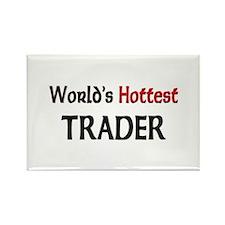 World's Hottest Trader Rectangle Magnet