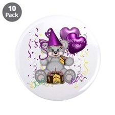 "BIRTHDAY GIRL 3.5"" Button (10 pack)"