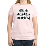 Jane Austen Rocks Pink T-Shirt