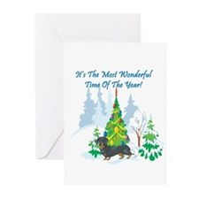 Christmas Time Dachshund Greeting Cards (Pk of 10)