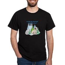 Christmas Time Afghan Hound T-Shirt