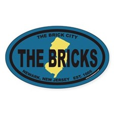 THE BRICK CITY Euro Oval Decal