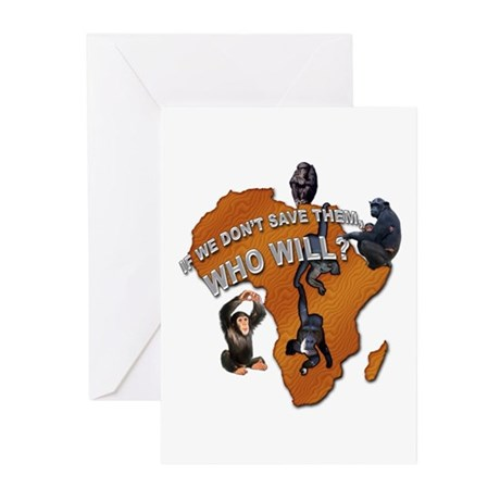 Save The Chimps Greeting Cards (Pk of 10)