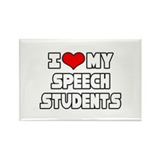 """I Love My Speech Students"" Rectangle Magnet (10 p"