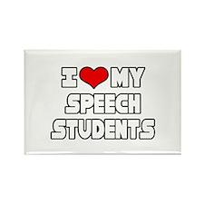 """I Love My Speech Students"" Rectangle Magnet"