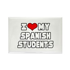 """""""I Love My Spanish Students"""" Rectangle Magnet"""
