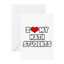 """I Love My Math Students"" Greeting Cards (Pk of 20"