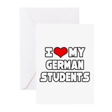 """I Love My German Students"" Greeting Cards (Pk of"
