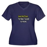"""No Fear, Music Teacher"" Women's Plus Size V-Neck"