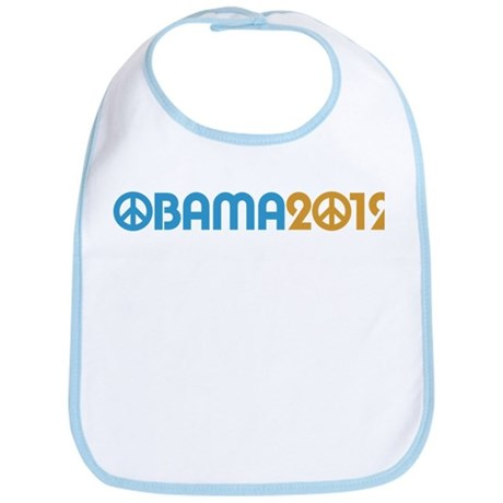 Obama Peace Sign Bib