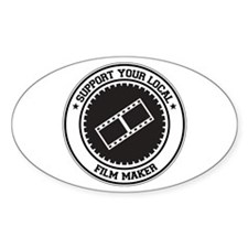 Support Film Maker Oval Decal