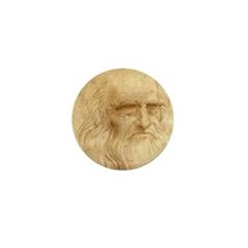 Leonardo Da Vinci Mini Button (10 pack)