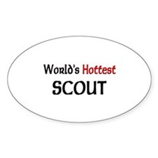 World's Hottest Scout Oval Decal
