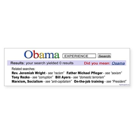 Obama Search Bumper Sticker (10 pk)