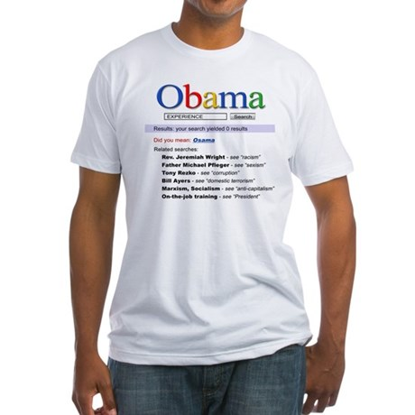Obama Search Fitted T-Shirt