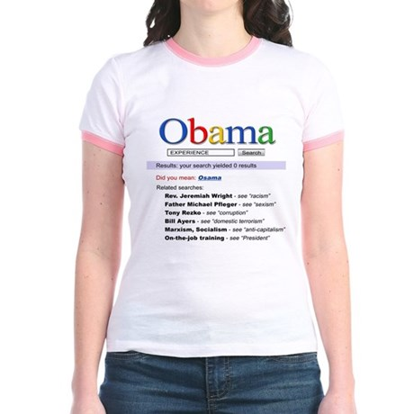 Obama Search Jr. Ringer T-Shirt