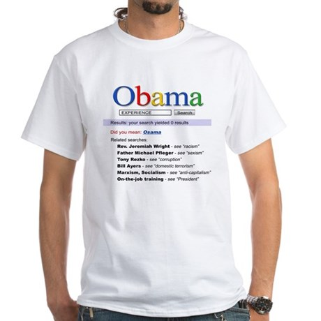 Obama Search White T-Shirt