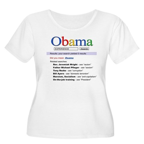 Obama Search Women's Plus Size Scoop Neck T-Shirt