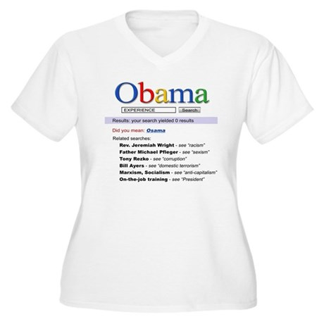 Obama Search Women's Plus Size V-Neck T-Shirt