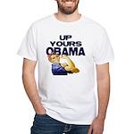 Anti-Obama White T-Shirt