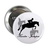 Hunter Jumper Trio Script 2.25&quot; Button (10 pack)