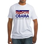 Vote Obama Flag Fitted USA T-Shirt