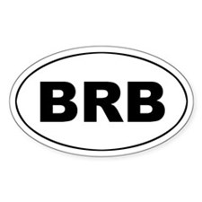 Barbados (BRB) Oval Decal