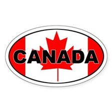 Canadian Flag Oval Decal