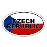 Czech Republic Oval Bumper Stickers