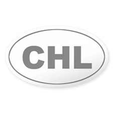Chile / Chilean (CHL) Oval Decal