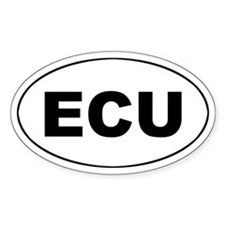 Ecuadorian (ECU) Oval Decal