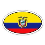 Flag of Ecuador Oval Decal