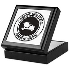 Support Concrete Person Keepsake Box