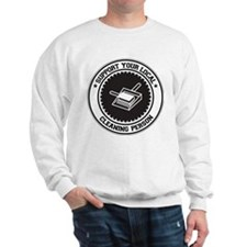 Support Cleaning Person Sweatshirt