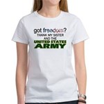 Got Freedom? Army (Sister) Women's T-Shirt