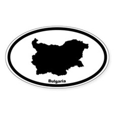 Bulgaria Outline Oval Decal