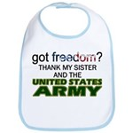 Got Freedom? Army (Sister) Bib