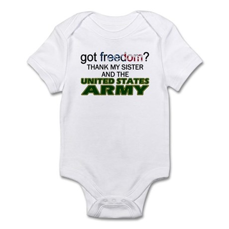 Got Freedom? Army (Sister) Infant Creeper