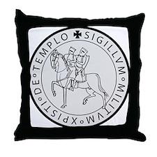 Templar Seal Throw Pillow