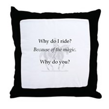 Throw Pillow-WhyIRide