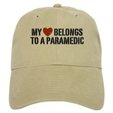 My Heart Belongs to a Paramedic Baseball Cap