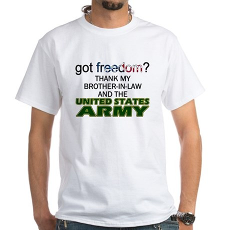 U.S. Army (Brother-In-Law) White T-Shirt