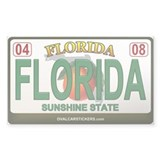 Florida Plate - FLORIDA Rectangle Sticker 50 pk)