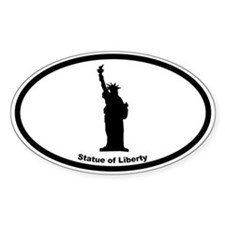 Statue of Liberty Silhouette Oval Decal